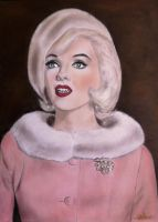 Marilyn Monroe - Make-Up Drawing by SofiaMetaxas