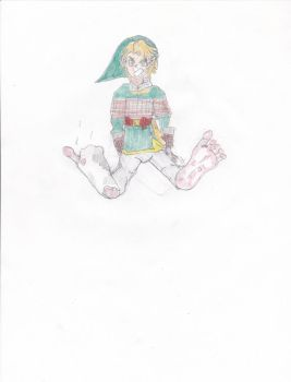 Link tied up and Barefoot by AnimeSneezefan123