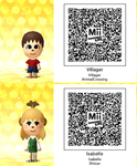 Tomodachi Life Villager And Isabelle by GumballQR
