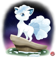 [Alolan Vulpix] Sparkling Hope in the Night... by Stacona