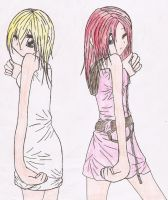 Namine and Kairi colored by LilAnimeGurl33