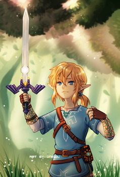 botw -- master sword (+time lapse) by onisuu