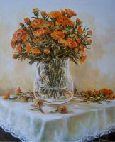 Orange Flowers 2 by radina