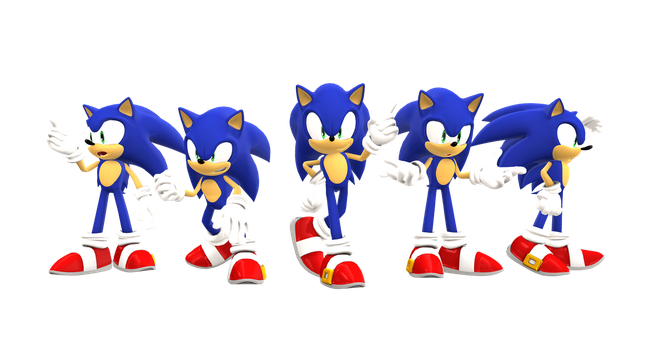 MMD: Sonic Poses by BluexBlur