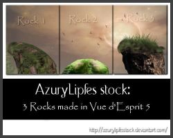 Fantasy Rocks made in vue by AzurylipfesStock