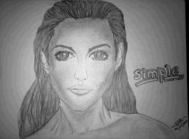 Simple Beauty ~ The Lady [Pencil Sketch] by AbhishekKr