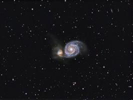 Whirlpool Galaxy by DoomWillFindYou