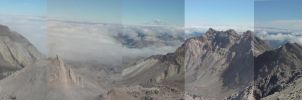 Mt St helens rim panorama by Sonic840