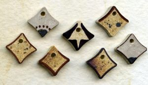 beads - Ceramic sqaures by Osa-Art-Farm