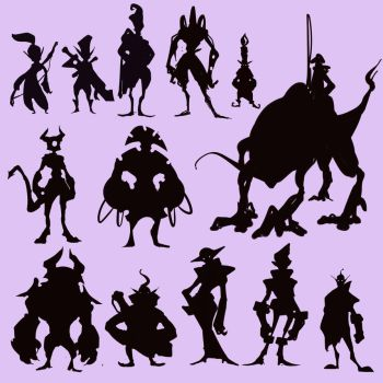 Fantasy Silhouettes by BourneLach