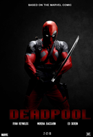 Deadpool movie poster by chronoxiong