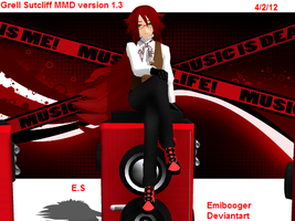 Grell Sutcliff MMD version 1.3 by JustinRelinaleInc