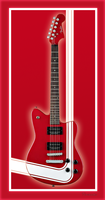 Red Guitar by simso