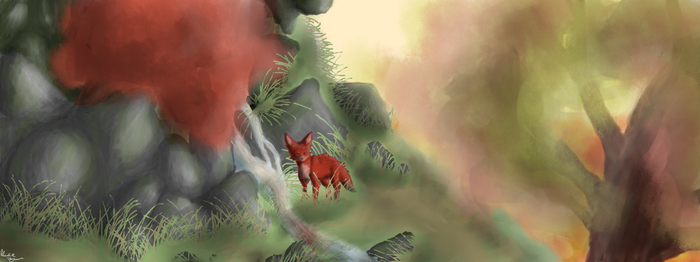 A red, red fox. by Silver-Tao111