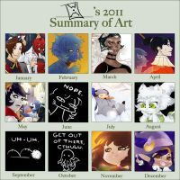 2011 Art Summary by WitheringMoon