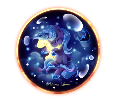 Princess Luna + Speedpaint by KimiK-A