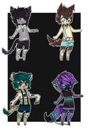 anthro adopts! by Luskish