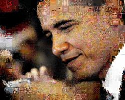 Obama cascading photo mosaic by drsparc