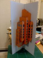 Floating Building Papercraft by Henry-Crun