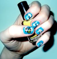 Bee Nails by RoxysSlushPuppie