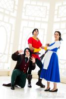Belle - No one can pose like Gaston by CrystalPanda