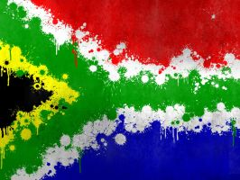 South African Flag Splatter by gee5evo