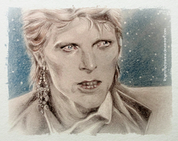 Bowie sketch by love-a-lad-insane