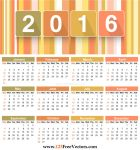 Download 2016 Calendar Template by 123freevectors
