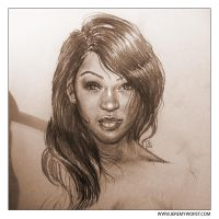 Meagan Good Sketch by Jeremy Worst by JeremyWorst