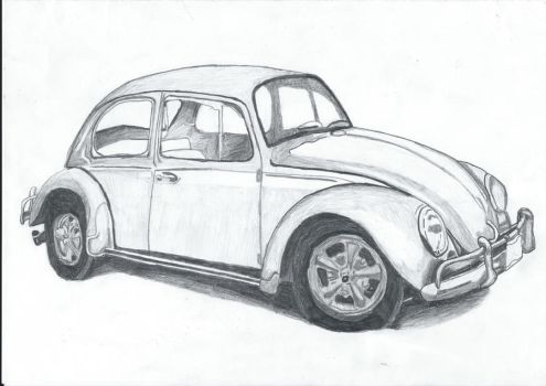 VW Bug drawing by SliderGirl