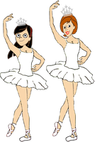 Helen and Violet Parr as Ballerinas by darthraner83