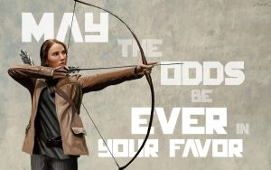 Hunger Games: Katniss (Wallpaper) by NilRecurring
