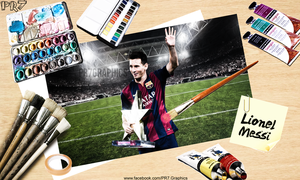 Lionel Messi - Oil Painting by PR7-Graphics