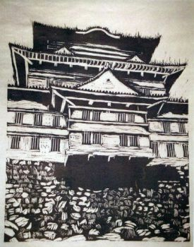 Japaness Castle by Doggest-CBear