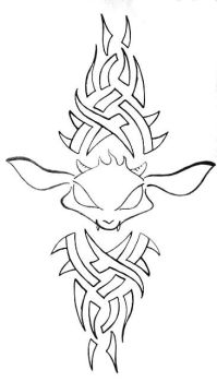 Mad goat tattoo by Fevr
