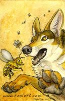 The Jackal and the Bees by Foxfeather248