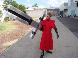 Vash with the Punisher by wataglue