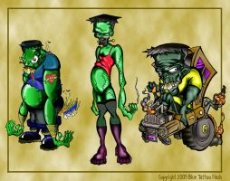 Frankenstein Tattoo Flash 2 by BeeJayDeL