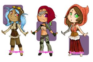 Steampunk Girls Adoptables! CLOSED by TechSupportGirls