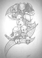 Predator tattoo design. by ThePredatorMan