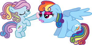 Rainbow Dazzle and Rainbow Dash by StarryOak
