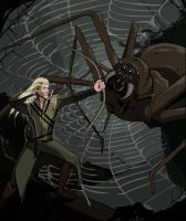 Badass Legolas Fighting A Giant Spider by Loornaa