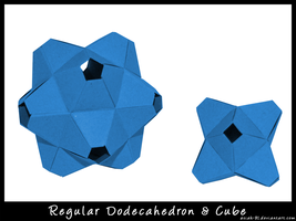 Unit Polyhedrons Origami by asiak-91
