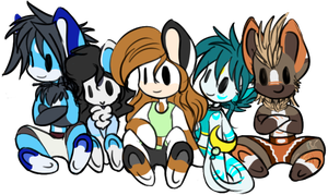Chibis Group by ElyFlycorn