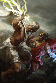 Zeus and Thor by ryomablood