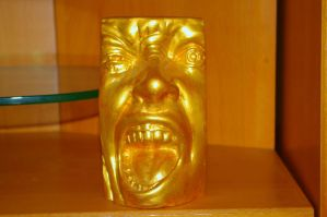 Golden Face I by expression-stock