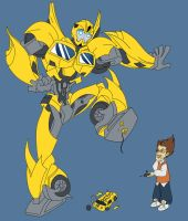 Bumblebee and Raf by Transformergirl