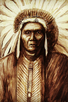 Native American by Meldiviart