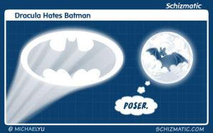 Dracula Hates Batman by schizmatic