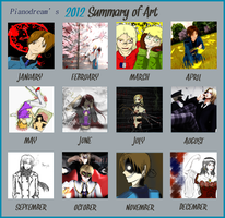 Pianodream's 2012 Summary of Art by Pianodream